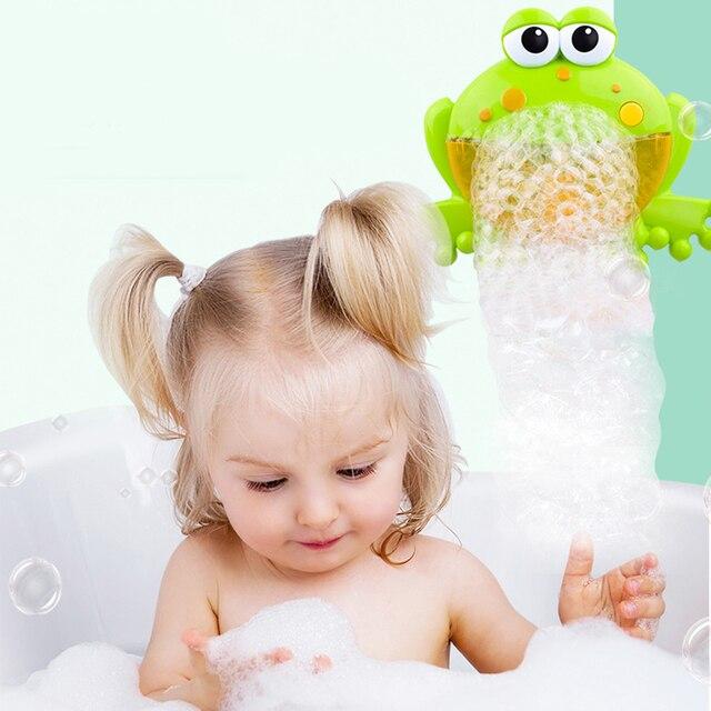 Baby Bath Bubble Machine  Bathroom Accessories Sets Big Frogs Automatic Bubble Maker Blower Music Maker Bathtub Soap Machine 1