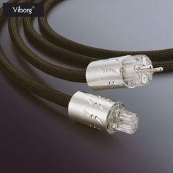 Выборг ETR-VP1501 Hifi динамик IEC аудио Мощность кабель родиевое покрытие разъем ЕС мощность Plug 1,8 м Hi-End 250 В
