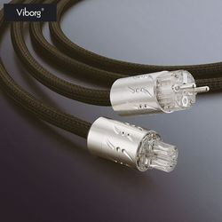 Viborg ETR-VP1501 altavoz de alta fidelidad IEC Cable de alimentación de Audio chapado en rodio conector de corriente de la UE macho de 1,8 m-250 V