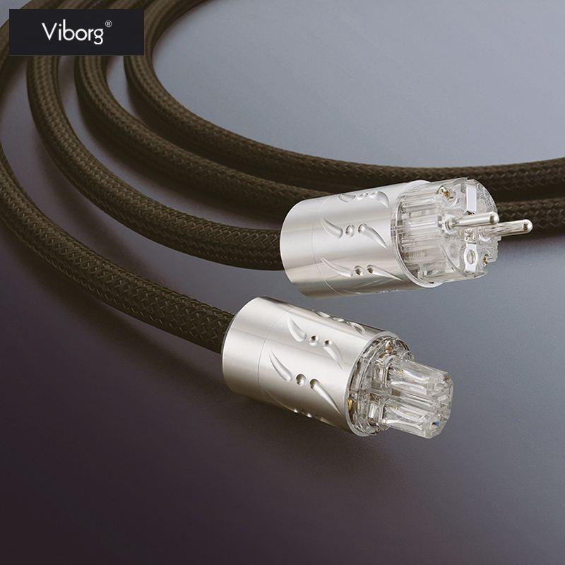 Viborg ETR-VP1501 haut-parleur hifi IEC Audio câble d'alimentation Rhodium Placage Connecteur UE fiche d'alimentation 1.8 m Salut-Fin 250 V
