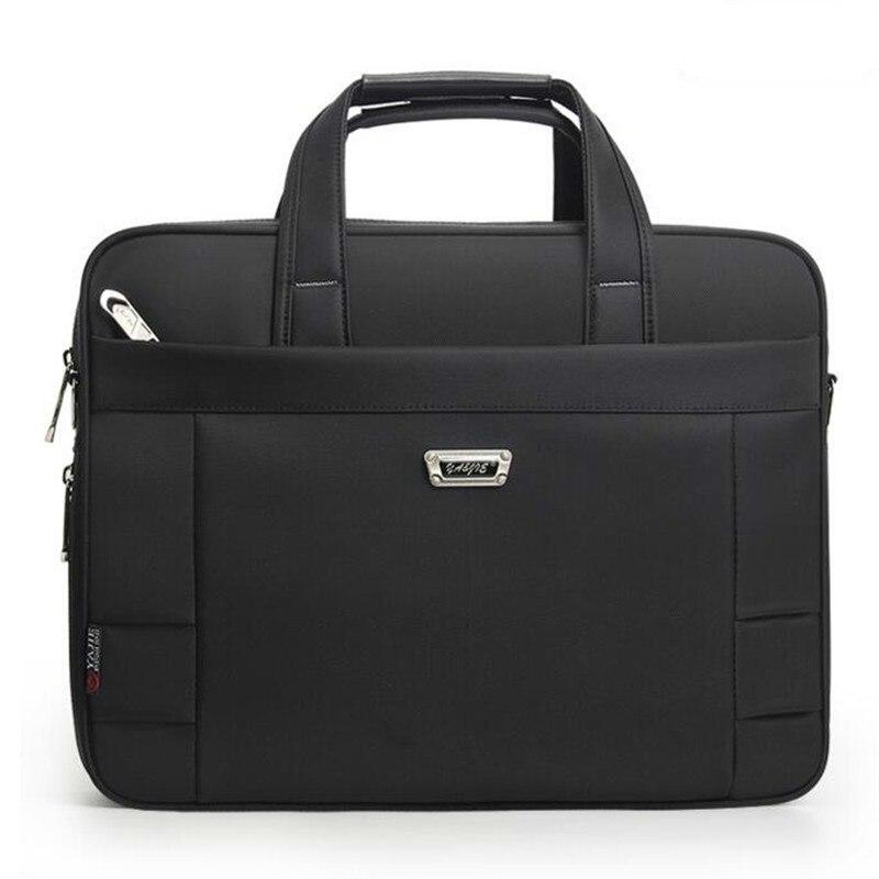 392bfcfd2c74 Деловые сумки водонепроницаемые классические мужские сумки на плечо мужские  Портфели Сумка для ноутбука Bolsa Feminina высокое качество ткань Ок..