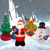 120cm/180 cm/210cm Inflatable Christmas Santa Claus Snowman Deer Airblown Christmas Decoration for Home Children Toys