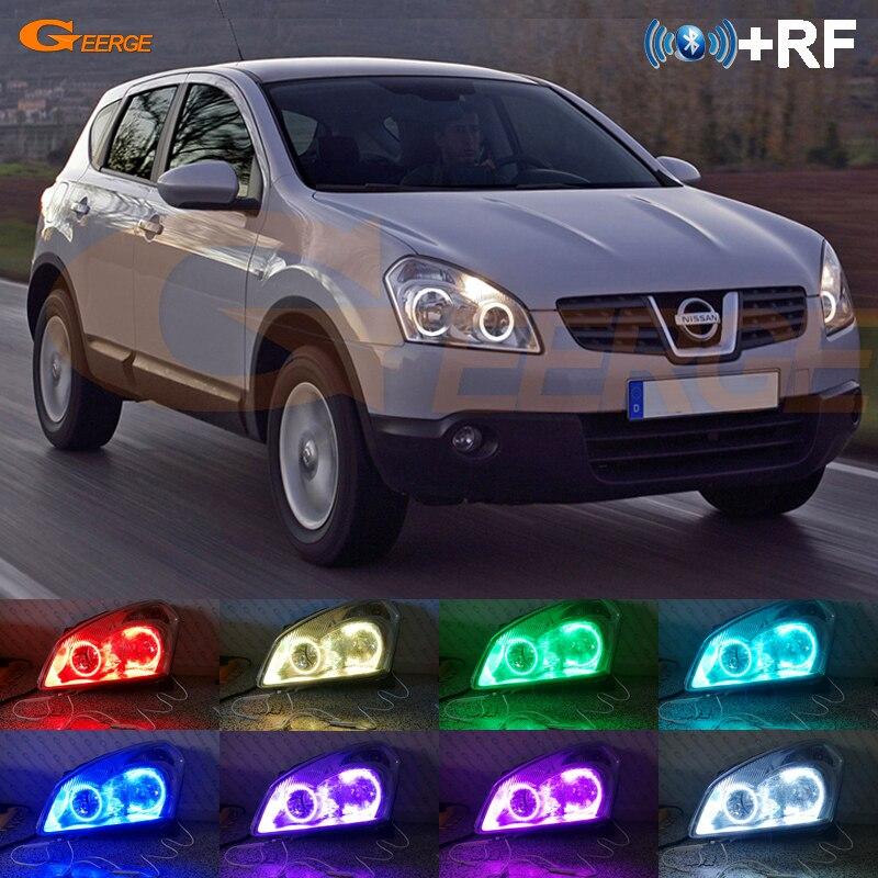 Pour Nissan Dualis J10 série 2007 2008 2009 RF contrôleur Bluetooth multicolore Ultra lumineux RGB LED ange yeux Halo anneau kit