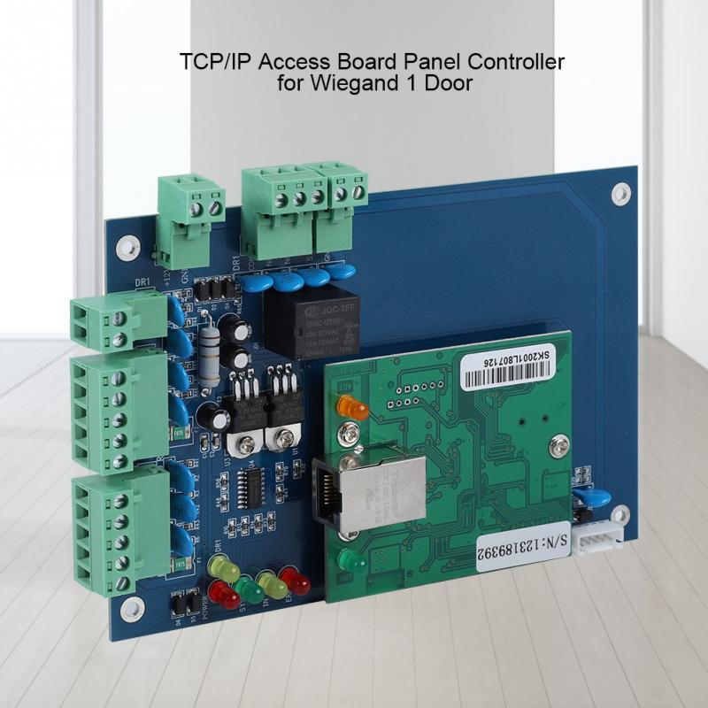 Hospitable Tcp/ip Network Access Control Board Panel Controller For Wiegand 1 Door Support Remote Unlocking Hot Security & Protection