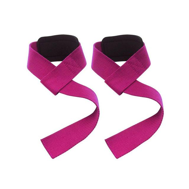 Grey / Pink Color Lifting Straps