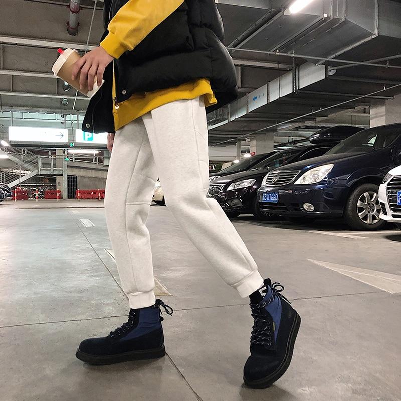 Casual Élastique Pieds Pantalon Mouvement Épaissir Creamy Hiver light Couleur Solide dark Coffee dark Gray light M 2018 Grey Grey Lâche 2xl Lié Joggers Hommes creamy white white Polaire Homme Taille qzvWOE6