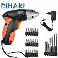 Mini Electric Screwdriver Drill Cordless Rechargeable Woodworking Electric Drill Variable Speed Electric Rotary Tool EU/US Plug