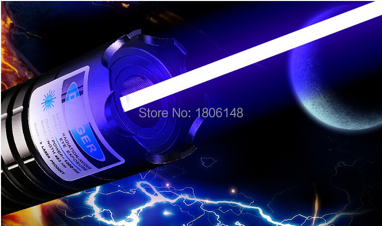 Most Powerful 100W 100000m 450nm High Power Blue Laser Pointers Flashlight Burn Match Candle Lit Cigarette Wicked LAZER Hunting in Lasers from Sports Entertainment