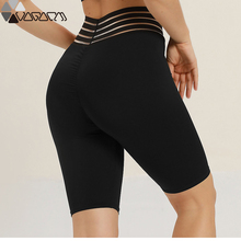 Active Women Biker Bottoming Shorts Yoga Gym High Compression Shorts Waist Red Solid Mujer Fitness Sport Jogging Athletic