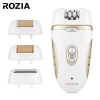 ROZIA HB6007 4 in 1 Epilator Women Shaver Electric Lady Callus Remover