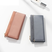 Women Fashion Wallet Female Korean Version Multi-Card Clutch Bag Ms. Pu Long Zipper