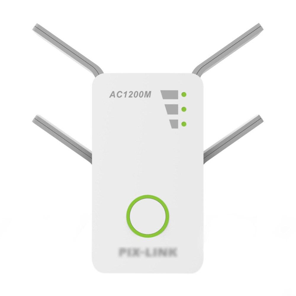 Ac09 1200 2.4 Ghz 5 Ghz double bande Ap sans fil Wifi répéteur gamme Ac répéteur routeur Wps avec 4 antennes externes Eu Pl