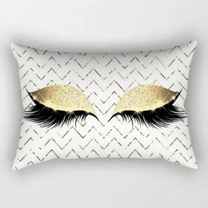 Image 3 - Marka Yeni Stil Yaratıcı Kirpik Polyester Yastık Kılıfı Bel Atmak Ev Dekor