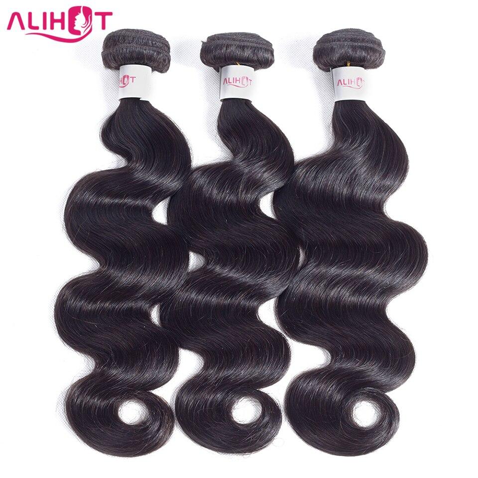 Ali Hot Brazilian Body Wave Hair 3 Bundles 100 Human Hair Non Remy Full Cuticle Aligned