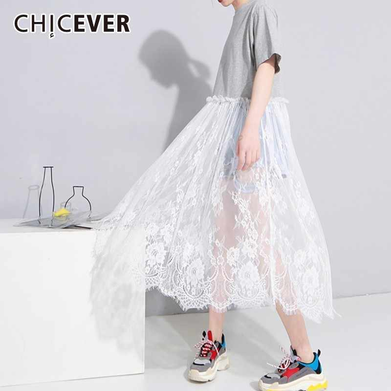 e094b80da64cd Detail Feedback Questions about CHICEVER Patchwork Lace Dress For ...