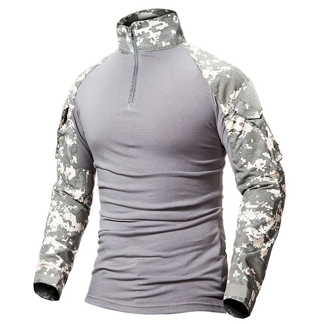 9 Colors Outdoor Fishing Sports T-shirt Men Long Sleeve Hunting Tactical Military Army Shirts Uniform Hiking Breathable Clothing 5