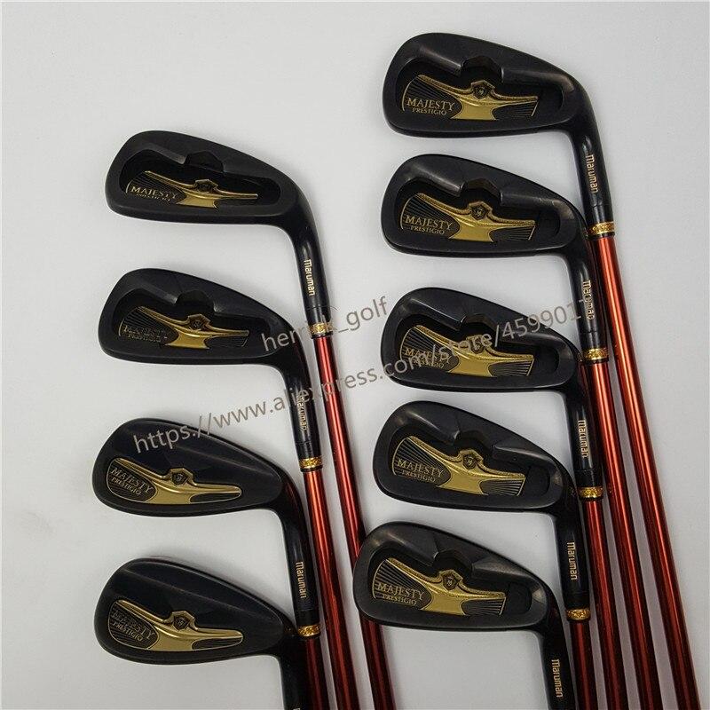 Men Maruman Golf Clubs Set Majesty Prestigio 9 Golf Irons Set With 5-910 PAS Graphite Golf Shaft Clubs Free Shipping