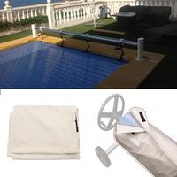 1PCS Swimming Pool Cover Solar Blanket Reel Protective Cover Waterproof Sun screen Covers Durable Plastic Home Shade Tools