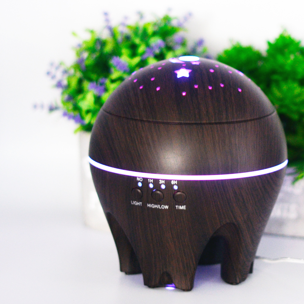 CHOLID Essential Oil Diffuser 500ml Aroma Humidifier Mist Make With 7 Color LED Lights Ultrasonic Aromatherapy Diffuser For Home