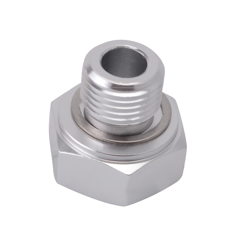 Aluminum Car Vehicles Oil Pressure Sensor Adapter Male M16x1.5 to Female 1//8 NPT