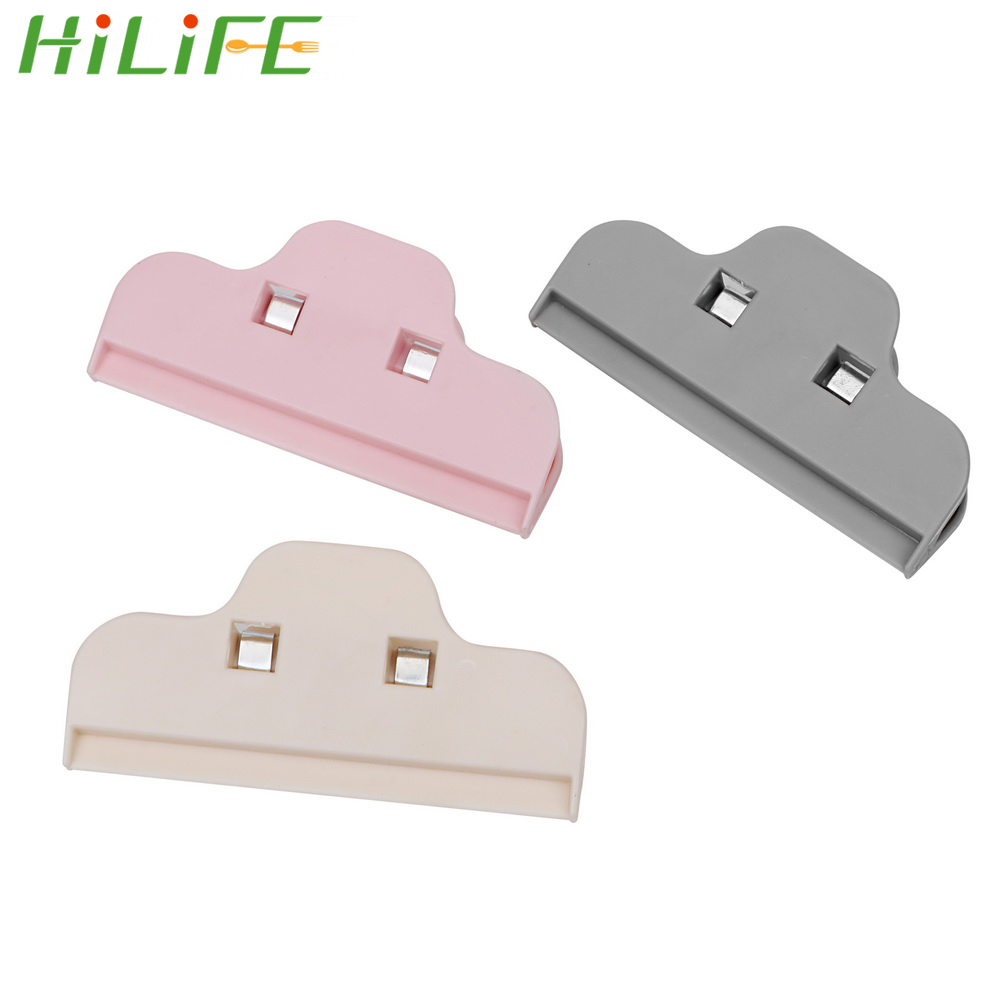 HILIFE Kitchen Food Storage Bag Office Paper Files Clips Clamp Snack Seal Plastic Sealer Clamp Sealer Home Clothespin