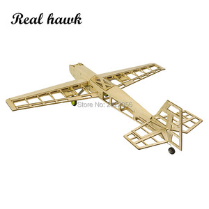 Image 3 - RC Plane Laser Cut Balsa Wood Airplanes Kit 1.5 2.5cc nitro trainer Frame without Cover Free Shipping Model Building Kit