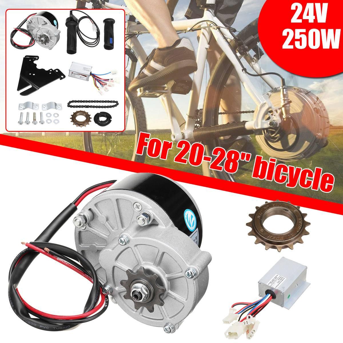 Kit de Conversion de moteur de Scooter électrique 24 V 250 W bricolage contrôleur de roue de moteur brossé pour 20-28