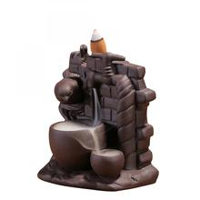 Retro Ceramic Bird Backflow Incense Burner Smell Aromatic Holder Smoke Waterfall Aromatherapy Censer Creative Home Decor