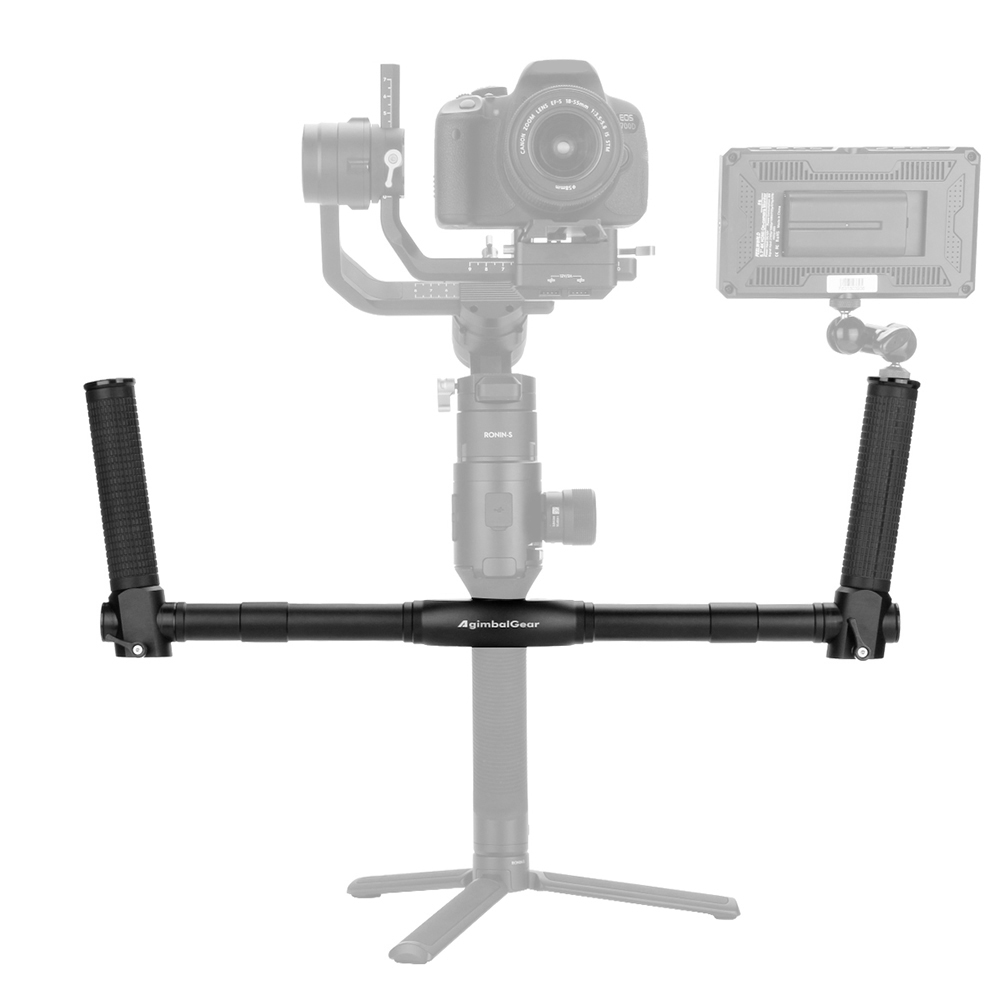 Dual Handle Grip Aluminum Alloy Handheld Bracket Handlebar with 14 inch Screws for DJI Ronin-S Gimbal Stabilizer