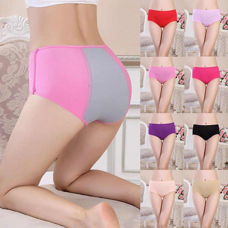 IOLPR women Physiological Briefs Leakproof Menstrual Period Lengthen The Broadened Female Women Underwear Plus Size plus size in women 39 s panties from Underwear amp Sleepwears