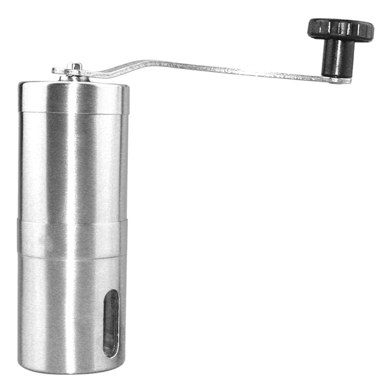 Mini Manual Coffee Grinder Stainless Steel Adjustable Coffee Mill with Storage Rubber Loop Easy Cleaning