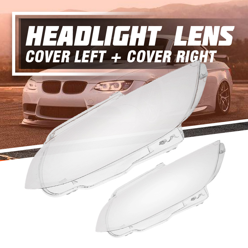 1 шт. влево/вправо фары автомобиля фары крышка объектива для BMW E92 E93 купе M3 2006 2007 2008 2009 2010