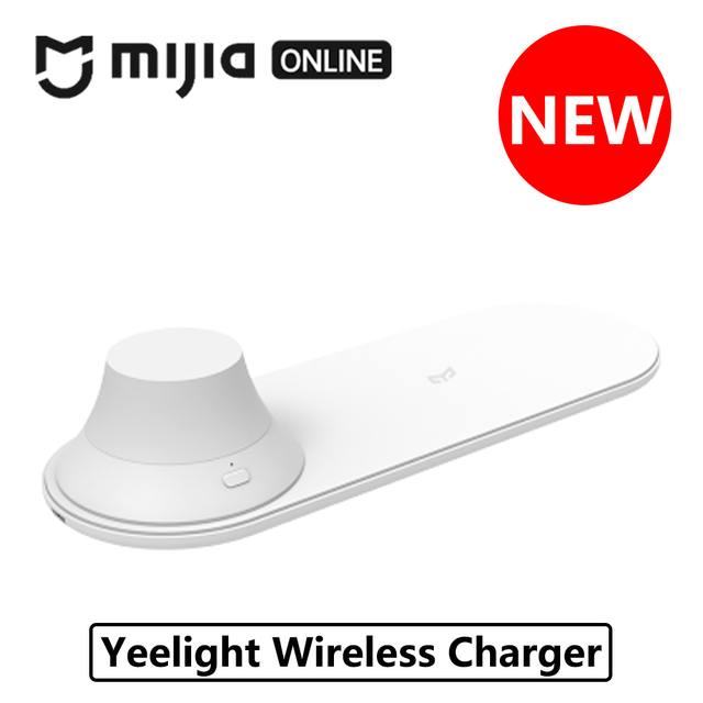 Xiaomi Yeelight cargador inalámbrico con LED de luz de la noche para mi X 2 S iPhone X XR XS 8 Plus carga Fasr de atracción magnética de 10 W