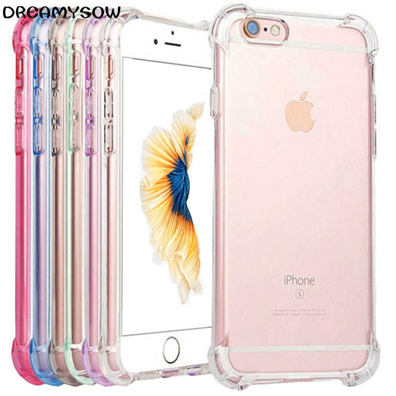 Soft Silicone Transparent Cases For iPhone X XS 6 6S 8 Plus Cover For iPhone 11 Pro XS MAX XR 7 Clear Shockproof Ultra Thin Case