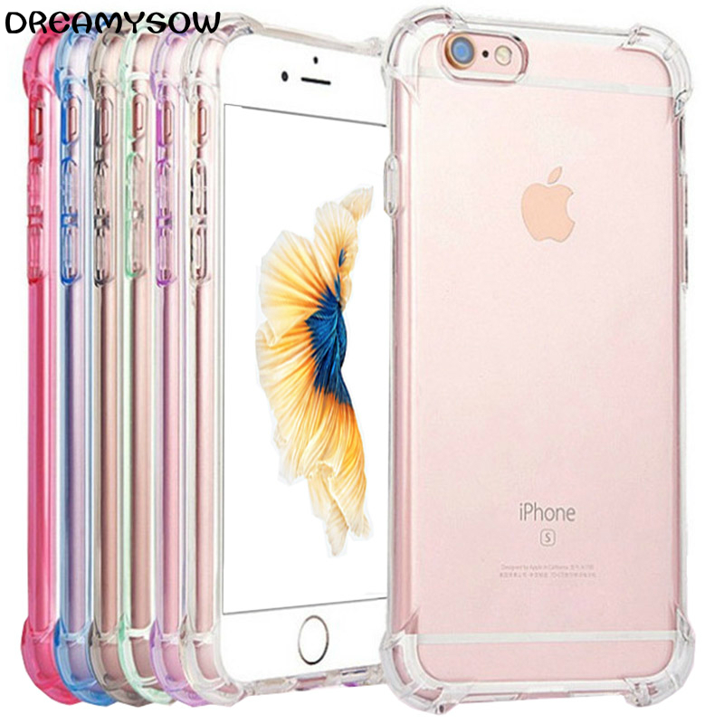 Soft Silicone Transparent Bumper Phone Case For iPhone SE 2020 X XS 6S 8 Plus Cover 1