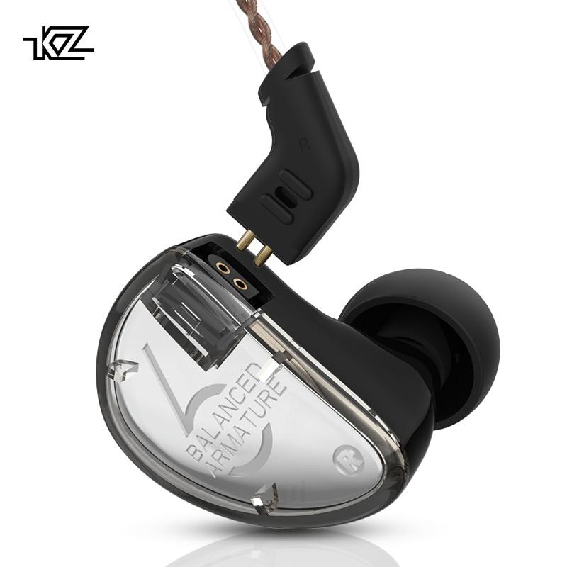 CCA KZ AS06 In Ear Earphones Monitor 3ba Balanced Armature Driver Hifi Bas Sport Headset Noise
