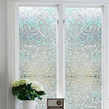 Glass Stickers Frosted Opaque Bathroom Home Decor Self Bedroom Living Room Window Wide 45cm Privacy Protection Long 100cm