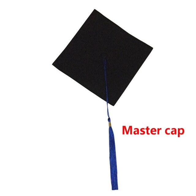 Tampões da graduação Para Bacharel Mestre Doutor Tutor Principal Chapéus Engraçados Para Graduado Festas Adereços Foto Homens Mulheres Gorro Bonnet 2