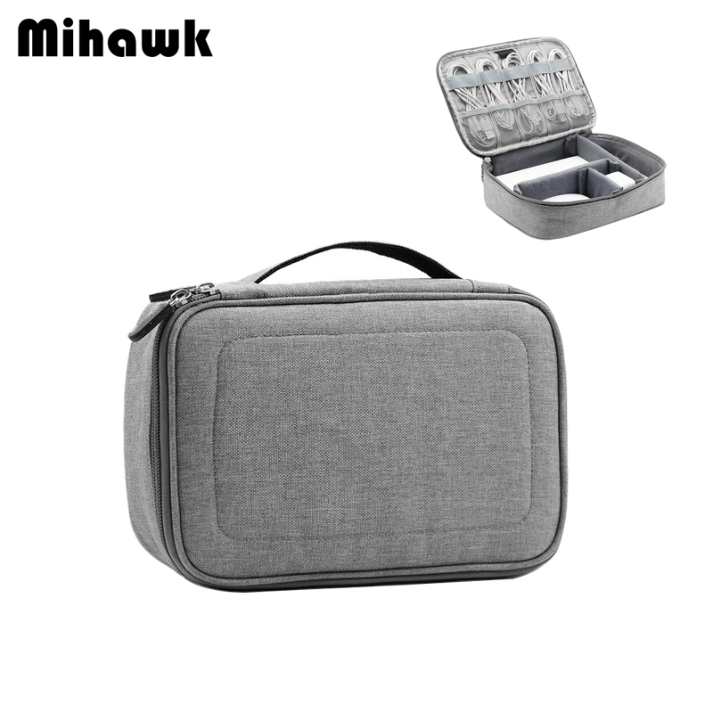Miawk Travel Digital Bag USB Cable Gadgets Zip Tote Portable Power Bank Holder SD Card Earphone Electronic Organizer Accessories