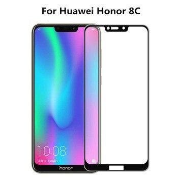 Перейти на Алиэкспресс и купить Премиум 3D закаленное стекло для Huawei Honor 8C защита экрана полное покрытие Защитная пленка для huawei honor 8c BKK-AL00 Play 8C
