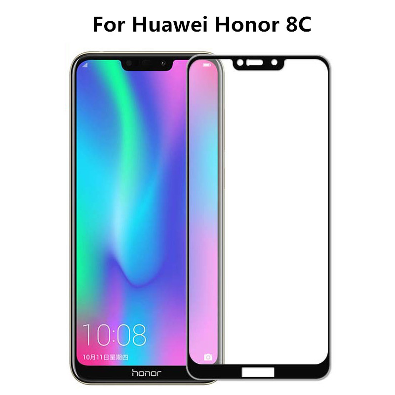 Premium 3D Tempered Glass For Huawei Honor 8C Screen Protector Full Cover Protective Film For Huawei Honor 8c BKK-AL00 Play 8C