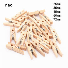 Made in China 25mm 35mm 45mm 60mm 72mm log Houten Clips Foto Clips Wasknijper Craft decoratie Clips School Office clips(China)