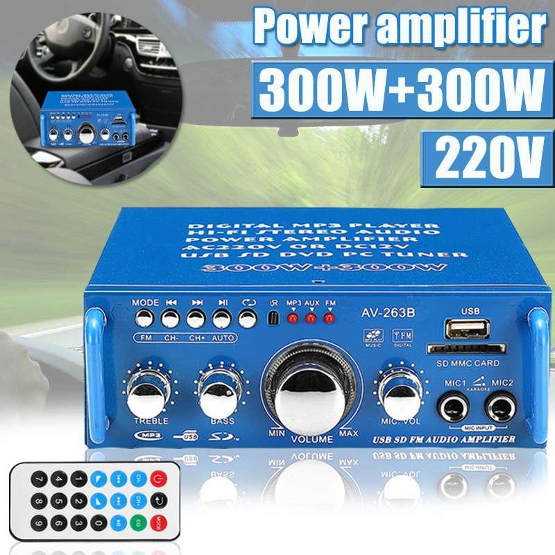 DC 12V Mini Car Stereo Amplifier 2.0 Dual Channel Card Auto Audio Digital Amplif