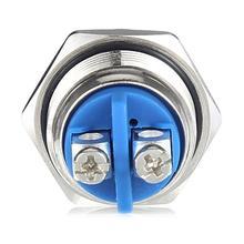 16 мм 12 В Автомобильный Алюминиевый сплав кнопка включения переключатель металлический переключатель вкл./выкл. Нержавеющая сталь алюминиевый сплав