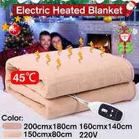 220V Security Plush Electric Blanket Bed Thermostat Waterproof Electric Mattress Electric Heating Blanket Warmer Heater Carpet