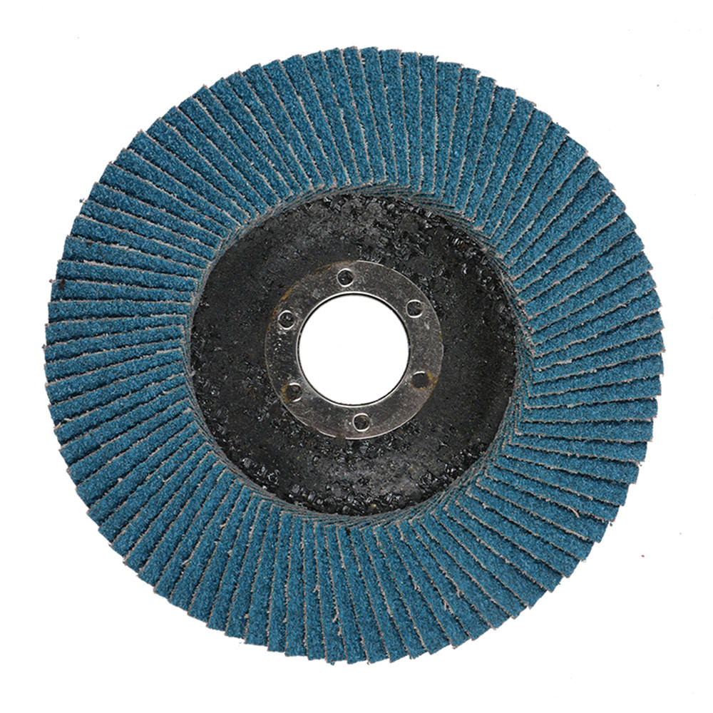 1pcs Chrome Corundum Louver 5 Inch Abrasive Tools Blue Sand Plat Polishing Metal Iron Rust Removal Grinding Wheel