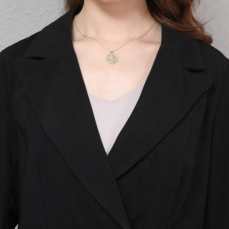 Nerazzurri Ladies Blazer Plus Size Women Blazers And Jackets 2019 4xl 5xl 6xl 7xl Slim Black Double Breasted Work Office Jacket