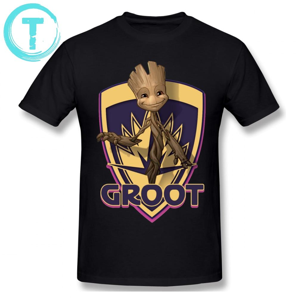 Groot T Shirt Baby Groot Crest T Shirt Summer Mens Tee