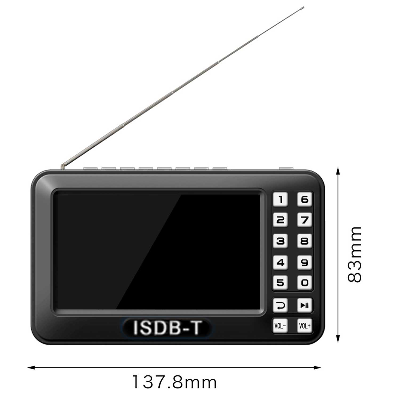 Draagbare 4.3 inch Lcd Tv Isdb-t Volledige Seg Fm Oplaadbare Tv Voor Live Films Muziek Fm Altijd Eu plug