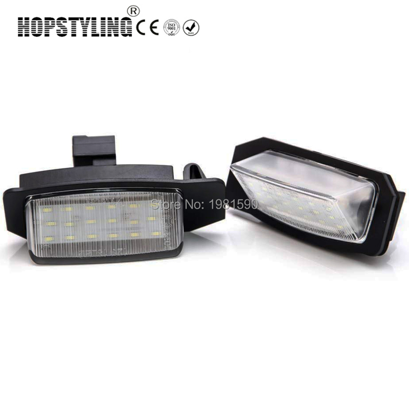 Hopstyling 2 pcs no error led 번호 미쓰비시 레이서 용 번호판 라이트 <font><b>outlander</b></font> car accessory <font><b>lamps</b></font> image